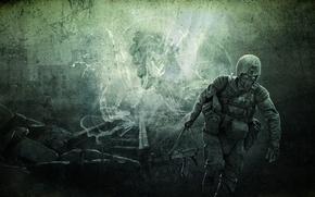 Картинка оружие, арт, солдат, Зов Припяти, калаш, S.T.A.L.K.E.R