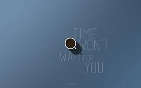 Картинка время, стиль, надписи, кофе, минимализм, кружка, мотивация, vcoff