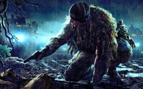 Картинка пистолет, засада, снайпер, камуфляж, Sniper Ghost Warrior 2