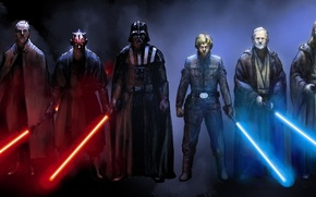 Картинка звездные войны, Дарт Вейдер, Star wars, Дарт мол, Оби Ван, император Палпатин, Квай Гон, граф …