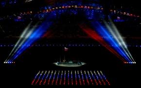 Картинка флаг, Россия, триколор, Олимпиада, олимпийские игры, Сочи, 2014, стадион фишт, открытие