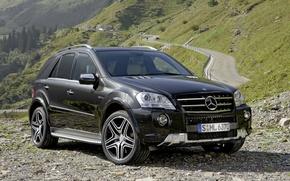 Обои Mercedes-Benz, мерседес, AMG, кроссовер, W164, ML-Class