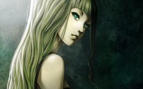 Картинка девушка, фон, волосы, арт, профиль, shilesque