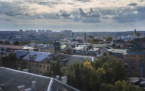 Картинка облака, город, крыши, Россия, Russia, Калуга, Kaluga