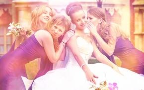 Картинка невеста, свадьба, подружки