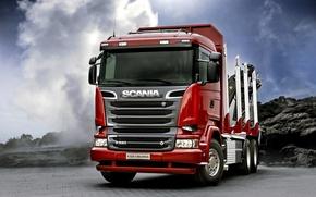 Обои грузовик, скания, Scania, R520, 2013, спецтехника, 6x4