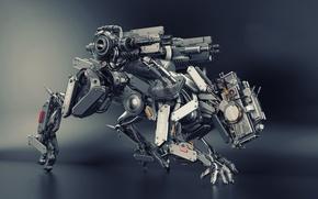 Картинка robot, police, render, animal