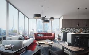 Картинка interior, apartment, living space