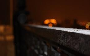 Картинка ночь, Город, ограда