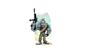 Картинка оружие, носорог, rhino, военный, rhinoceros