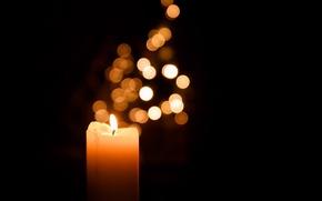 Картинка макро, фон, свеча