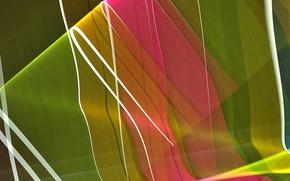 Обои цвет, линии, лучи, объем