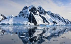 Картинка ice, rock, water, mountain, cold, floe