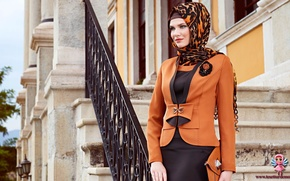 Картинка modern hijab clothing, Turk, girl. model