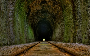 Обои дорога, 154, туннель, рельсы