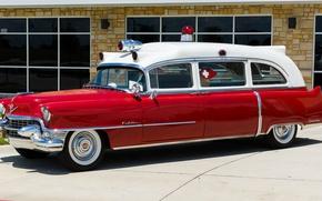 Обои ретро, Cadillac, классика, classic car, Скорая Помощь