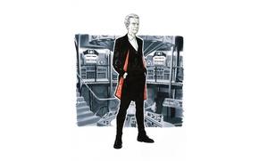 Картинка интерьер, арт, костюм, мужчина, Doctor Who, Доктор Кто, ТАРДИС, TARDIS, Двенадцатый Доктор, Twelfth Doctor