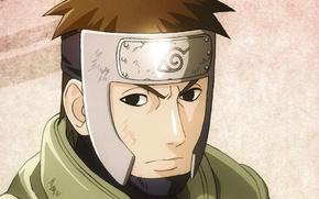 Картинка портрет, Naruto, ninja, sensei, Коноха, сердитый, Наруто Ураганные хроники, captain Yamato, повязка на лоб
