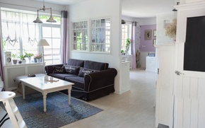 Картинка interior, rural style, living space