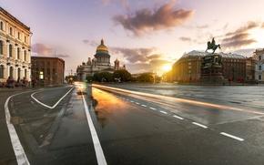 Картинка отражение, утро, Санкт-Петербург