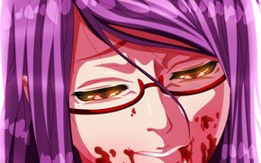 Картинка kawaii, girl, blood, game, monster, woman, anime, beautiful, pretty, face, assassin, asian, glasses, cute, warrior, …