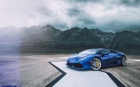 Картинка горы, Lamborghini, Texas, Huracan
