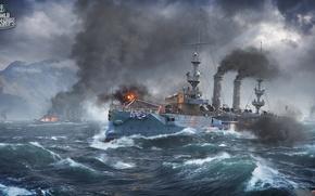 Картинка Корабли, Albany, World of Warships, worldofwarships
