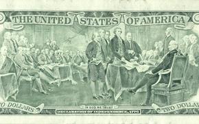 Картинка United States, money, God, America, trust, declaration, dollar independece