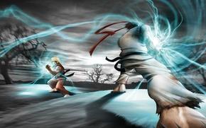 Картинка энергия, Драка, друзья, Street fighter, Ruy vs Ken