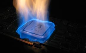 Картинка огонь, nvidia, видеокарта