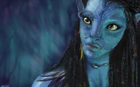Картинка Avatar, Neytiri, Аватар, Фильм, Нейтири, Zoe Saldana