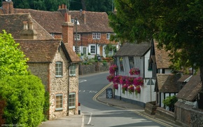 Картинка Англия, Кент, деревня, Великобритания, домики, графство