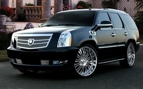 Картинка авто, Cadillac, тюнинг, Escalade, диски, auto, tuning