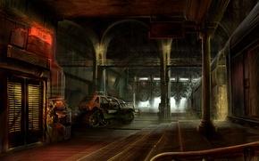 Картинка склад, Station, Machine, warehouse, Fantastic