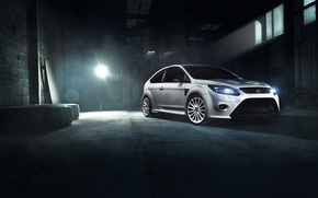 Картинка Ford, Car, Race, Focus, Front, White