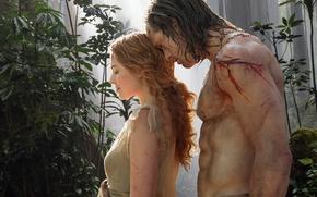 Картинка Тарзан, Tarzan, Margot Robbie, Alexander Skarsgard, Александр Скарсгард, Марго Робби, The Legend of Tarzan, Jane …
