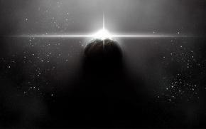 Картинка космос, звезда, планета
