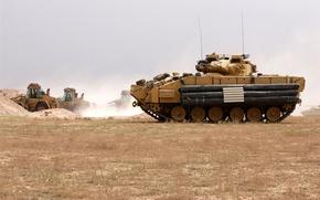 Обои машина, война, USA, M2 Bradley