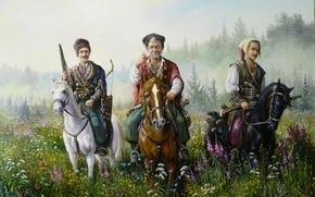 Картинка улыбка, арт, казаки, Андрей Лях