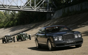 Обои Bentley, Brooklands, Ретро, Мост, Гонки