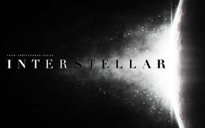 Картинка космос, свет, вспышка, логотип, logo, Interstellar, Интерстеллар, Christopher Nolan, Кристофер Нолан