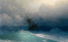 Обои море, картина, живопись, Айвазовский