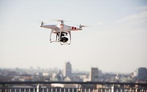 Картинка flying, camera, drone, camcorder