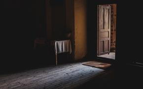 Картинка свет, комната, дверь