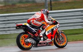Картинка Honda, MotoGP, Задок, HRC, Сыро, Marcuez