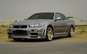 Обои r34, gtr, Nissan, v-spec, skyline