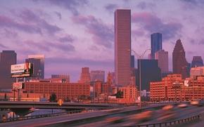 Картинка город, дома, панорама