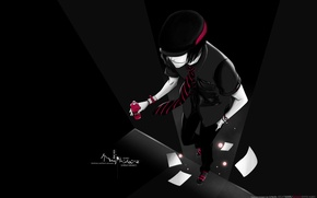 Обои Bleach, кеды, Shinji Hirako, красное, парень