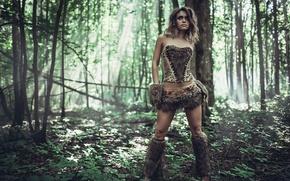 Картинка меха, амазонка, дикарка, шкуры, Woman of the Jungle