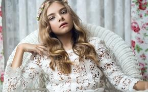 Картинка девушка, модель, весна, в белом